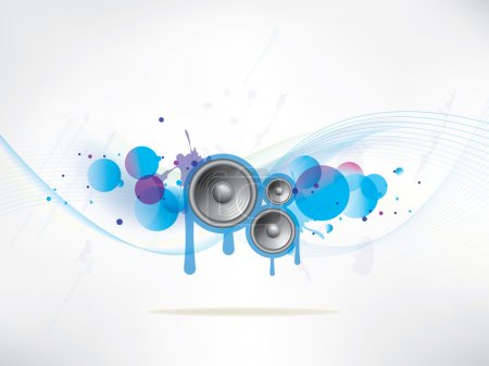 Abstract colored background with vinyl and musical...