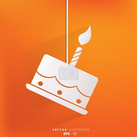 Illustration pour Gâteau d'anniversaire icône web - image libre de droit