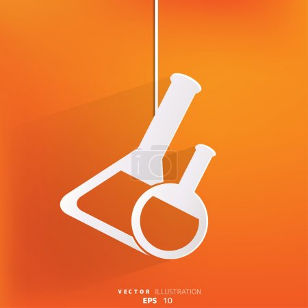 Medical flack, chemical eequipment web icon