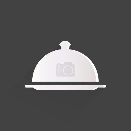 Illustration pour Icône cloche restaurant - image libre de droit