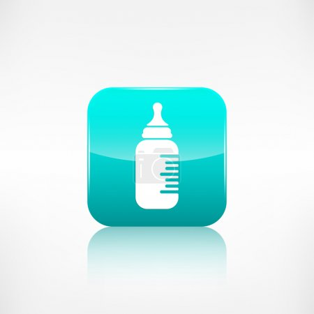 Baby pacifier bottle icon