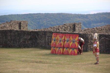 Roman soldiers defending