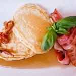 Постер, плакат: Bacon Pancakes with Maple Syrup