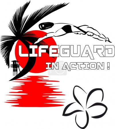 Lifeguard in action