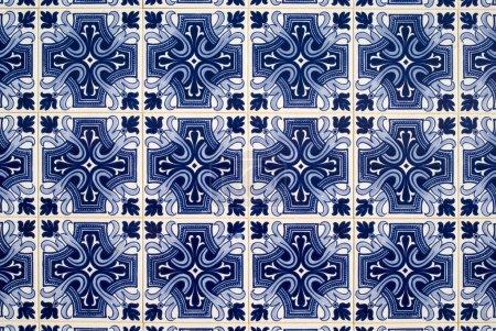 Photo pour Azulejos portugais, vieux fond carrelé - image libre de droit
