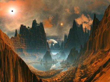 Alien Stone Circle in Mountain Valley