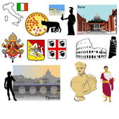 Italy post card background