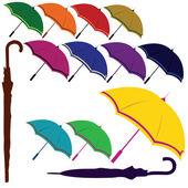 Colored umbrella set