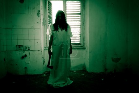Horror Scene of a Scary Woman...