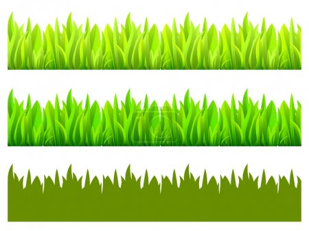 Illustration for Reflected vector grass pattern - Royalty Free Image