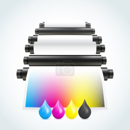 Illustration for Printing machine - Royalty Free Image