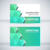 Green Modern Business Card Set Vector Design