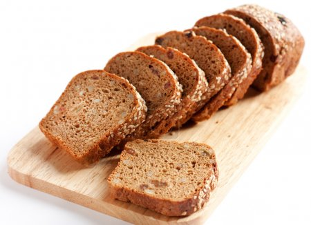 Bread from wheat flour, whole grain bread