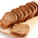 Bread from wheat flour, whole grain bread. Cut into pieces