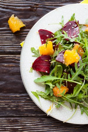 Photo for Fresh salad with beets and oranges, food - Royalty Free Image