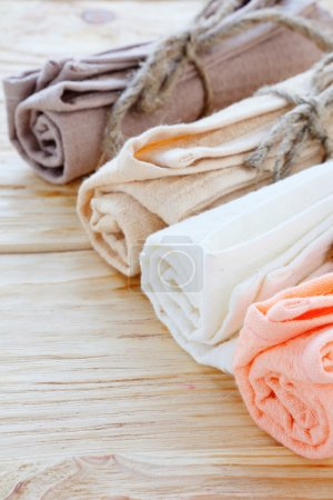 Organic textiles for the kitchen on the table