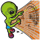 Alien and crop circle