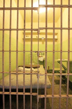 Photo pour Alcatraz prison, san francisco, Californie. particulier des cellules de la prison - image libre de droit