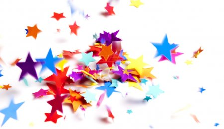 Colored stars confetti
