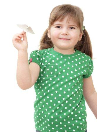 little girl flys the plane