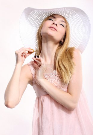 Woman In Sunhat Isolated