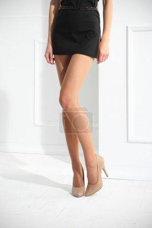 Thin tights . Tan tights