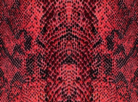 Red reptile skin pattern background