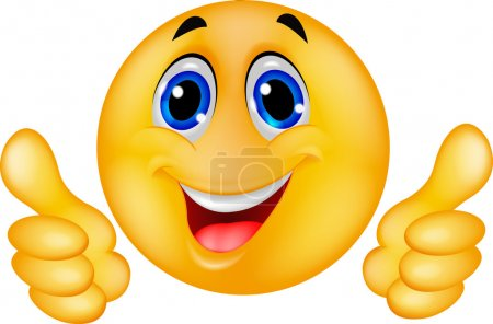 Photo for Happy Smiley Emoticon Face - Royalty Free Image