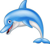 Funny dolphin cartoon