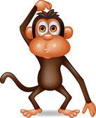 Smart monkey cartoon