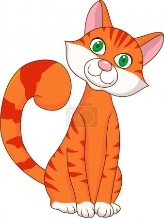 Illustration for Cute cat cartoon - Royalty Free Image