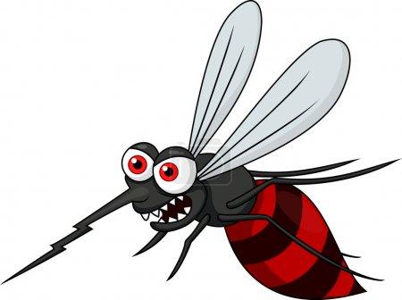 caricature de moustique en colère