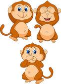 Tři moudré opice kreslený