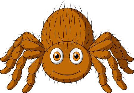 Cute tarantula spider cartoon