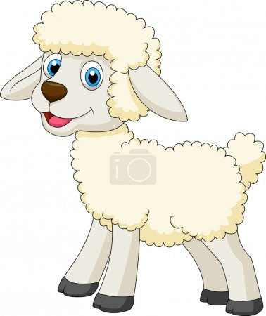 Photo for Illustration of cute sheep standing - Royalty Free Image