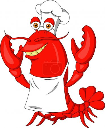 Photo for Illustration of Cute lobster cartoon - Royalty Free Image