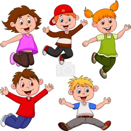 Photo for Illustration of Happy children cartoon - Royalty Free Image