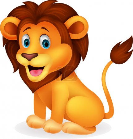 Illustration for Illustration of Cute lion cartoon - Royalty Free Image