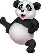 Panda cartoon doing martial art