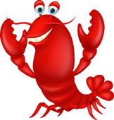 Illustration of Cute lobster cartoon