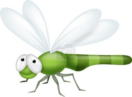 Illustration for Illustration of Dragonfly cartoon - Royalty Free Image