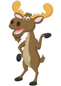 Funny moose cartoon