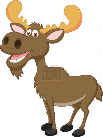Смешная карикатура на лося