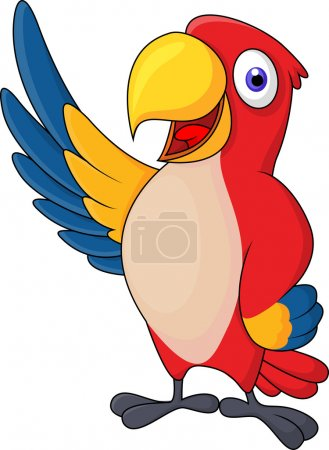 Photo for Cute macaw bird cartoon posing - Royalty Free Image
