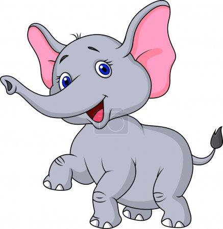 Photo for Cute baby elephant cartoon - Royalty Free Image