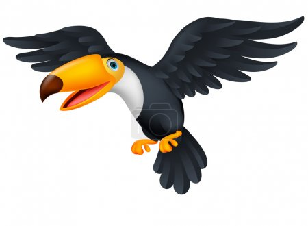 Illustration for Cute toucan bird cartoon - Royalty Free Image