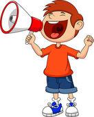 Cute boy with megaphone