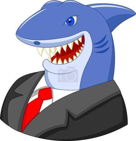 Business shark cartoon...