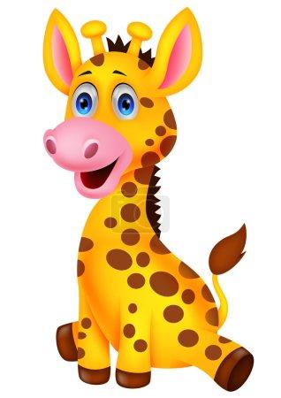 Cute baby giraffe cartoon