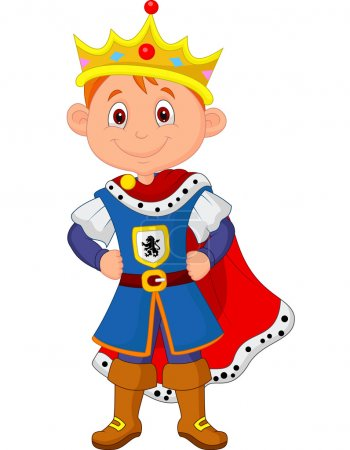 Illustration for Cute boy with king costume - Royalty Free Image